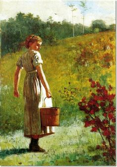Winslow Homer - Returning From the Spring 1874 Painting