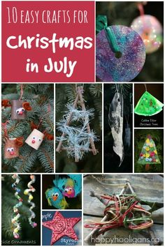 10 Christmas in July Crafts for Kids - Happy Hooligans