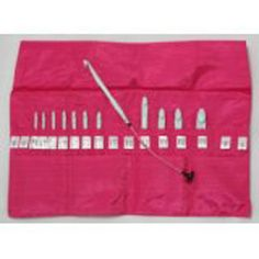Knitting and crochet supplies that support breast cancer research - Use this handy interchangeable set for standard crochet or Tunisian, or get the double ended interchangeable set to work Tunisian crochet in the round. Either way - $5 will be donated to breast cancer research!