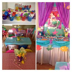 Parties mermaid under the sea nemo on pinterest for Ariel birthday decoration ideas