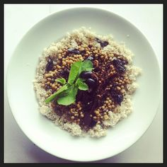 Lentils, black olives, sun dried tomatoes, Couscous, mint, vegan, vegetarian, salad