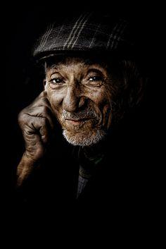 Old Man, male, portrait, face, Photo by Photographer Adnan Buballo, cab, wrinckles, aged, oldie, beard, hand, photograph, photo.