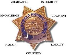 california highway patrol badge | CHP Badge - Character, Integrity, Judgment, Loyalty, Courtesy, Honor ...