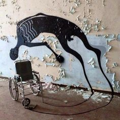 Abandoned psychiatric hospital becomes gallery for street artist Herbert Baglione in Parma, Italy.