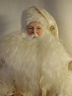 Father Christmas: Original Doll Sculpture by Bonnie Jones