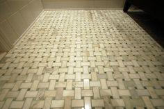 Basketweave tile floor