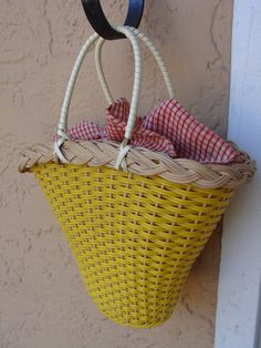 Vintage Whimsical Basket Purse