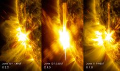 Solar astrophysicists reflect, and argue, about the current solar maximum in this New York Times article.  Image credit: NASA/SDO.