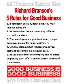 Richard Branson's 5