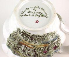 Heritage pattern by Ridgway Pottery - A Chanty on Lake Chaudiere - base of creamer