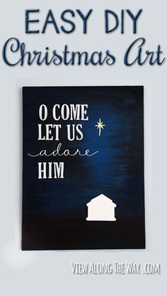 So simple and beautiful! This is totally do-able. | via www.viewalongtheway.com | #Christmas #art