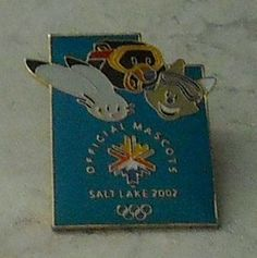 Salt Lake 2002 Olympic Games Olympics Offical Mascot Powder Coal Copper Hat Pin  - This Item is for sale at LB General Store http://stores.ebay.com/LB-General-Store ~Free Domestic Shipping