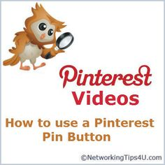 Video in how to use a #Pinterest  pin button