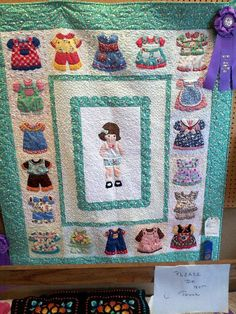 """Dolly Days"" quilt made by Carolyne Skjefstad, Anoka, MN I entered the quilt at Anoka county fair and won the sweepstakes!"
