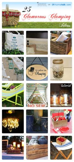"Let's go ""Glamping"" - a collection of 25 amazing glamourous camping ideas! Bring some style to the site!"