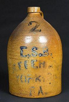 Pfaltzgraff-2-gallon-advertising-stoneware-jug antiqu