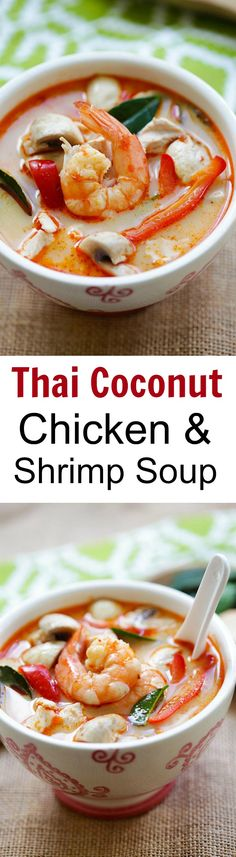 "Thai Coconut Chicken and Shrimp Soup ??? the best soup you???ll ever make in your kitchen. This soup is to-die-for, better than Thai takeout! | <a href=""http://rasamalaysia.com"" rel=""nofollow"" target=""_blank"">rasamalaysia.com</a>"