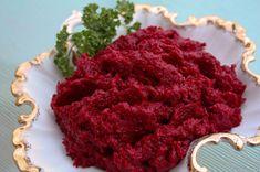 My FAVORITE Ukrainian Easter food: red beet and horseradish relish Hadyn. Not my recipe but looks similar. I use coarser, hotter  horseradish and make 10x this amount. ukrainian christma, hren, ukrainian easter, horseradish recip, polish cook, easter food, horseradish relish, uki, ukrainian food