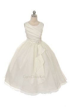 New Flower Girls Ivory Dress First Communion Party Pageant Christmas Easter C303