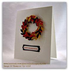 Be Creative with Nicole: A Thankful Wreath