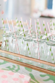 #straws Design & Styling by stylemepretty.com Photography by erinmcginn.com/)  Read more - http://www.stylemepretty.com/2013/05/10/april-showers-baby-shower/