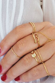 Gold Simple Hammered Knuckle Ring | STYLEADDICT.COM.AU