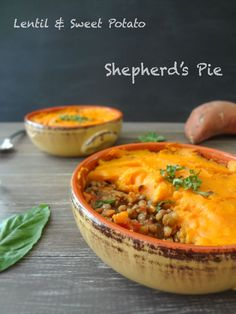 Lentil & Sweet Potato Shepherd's Pie