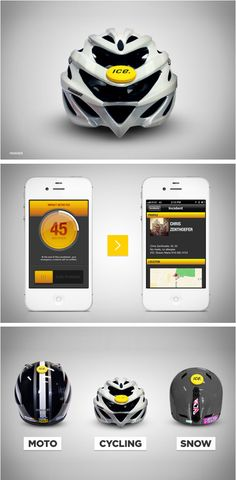 ICEdot Crash Sensor detects helmet impacts and immediately notifies your emergency contacts.