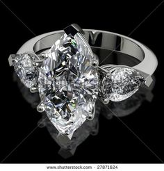 images of 2 carat marquis diamond rings | Marquise And Pear Shape Diamond Engagement Ring On Black Stock Photo ...