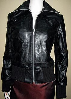 Leather jacket casual wear bomber style 632  $229.99