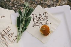 Personalized Eat Drink and Be Married Napkins | As seen on Style Me Pretty