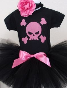 Punk Rock Tutu Set  up to child size 5  As Seen On by chickypoo209, $32.00