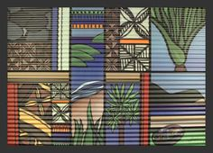Kiwiana Garden Art - Corrugated Iron by Sarah C - www.sarahc.co.nz
