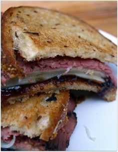 grilled pastrami, swiss, and sweet onion marmalade on rye....