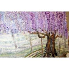 Art quilt of Wisteria, from Tokyo quilt festival 2006