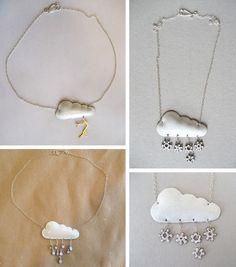Cloud necklaces!
