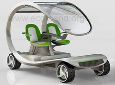 "golf cart made entirely of vegetable composites and emits only water - Design to ""marketply""!"
