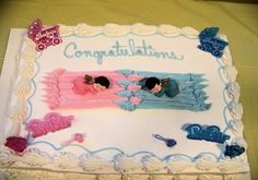 www.twinsgiftcompany.co.uk a baby cake idea for g/b twins.