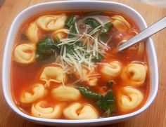 Garlicky Tortellini Soup with Tomato and Spinach - was an ok recipe, needed way more tortellini and a little more spice.