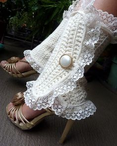 Found these adorable Victorian Fashion Leg Warmers by Mademoiselle Mermaid on Etsy