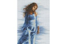 luca cross, craft, bm3006 fata, blue, stitch kit, hobbi, kit bm3006, cross stitches, luca artgoblen