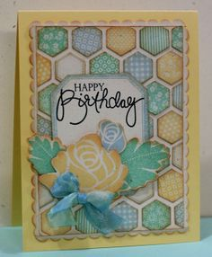 #hexagon punch use #stippled blossoms for the flower #honeycomb embossing folder #stampin up