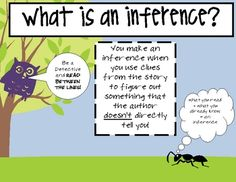 Inference poster - FREE PRINTABLE. :) Just print, mount on black, laminate and ta-da!  Repinned by SOS Inc. Resources.  Follow all our boards at http://Pinterest.com/sostherapy for therapy resources.
