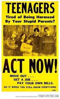 Teenagers act now…
