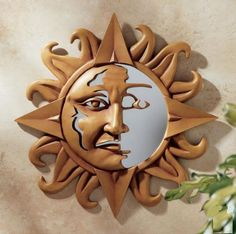 Celestial Sun Sculptural Wall Mirror