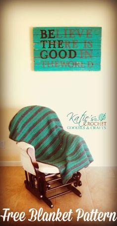 Free Blanket Crochet Pattern by Katie's Crochet Goodies