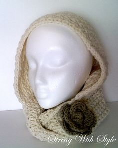 String With Style: Infinity Hooded Scarf Free Pattern