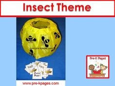 Ideas, activities, and printables for an insect theme in your preschool, pre-k, or kindergarten classroom.
