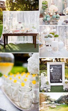 sweet vintage wedding dessert table via amy atlas.