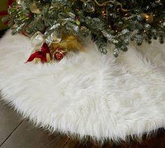 Faux Fur Tree Skirt - so luxe
